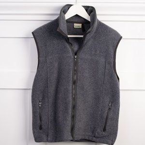 L.L. Bean zip up fleece vest
